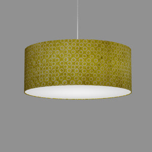 Drum Lamp Shade - P02 - Batik Lime Circles, 50cm(d) x 20cm(h)