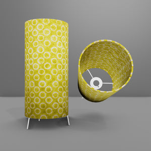 Free Standing Table Lamp Small - P02 ~ Batik Lime Circles