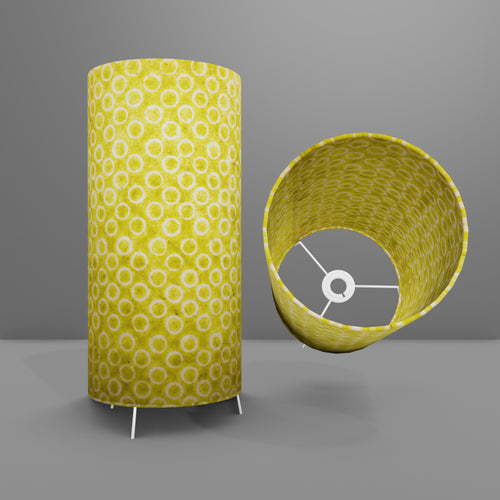 Free Standing Table Lamp Large - P02 ~ Batik Lime Circles