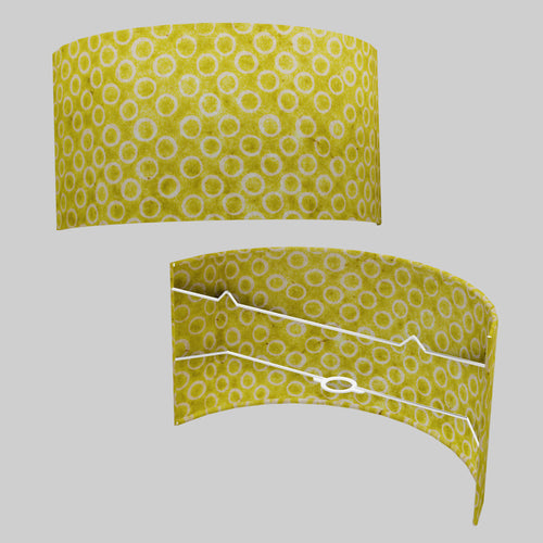 Wall Light - P02 - Batik Lime Circles, 36cm(wide) x 20cm(h)