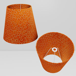 Conical Lamp Shade P03 - Batik Orange Circles, 23cm(top) x 35cm(bottom) x 31cm(height)