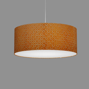 Drum Lamp Shade - P03 - Batik Orange Circles, 50cm(d) x 20cm(h)