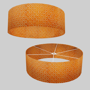 Drum Lamp Shade - P03 - Batik Orange Circles, 60cm(d) x 20cm(h)