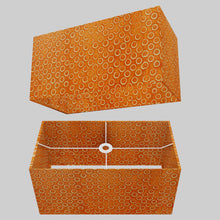 Rectangle Lamp Shade - P03 - Batik Orange Circles, 50cm(w) x 25cm(h) x 25cm(d)