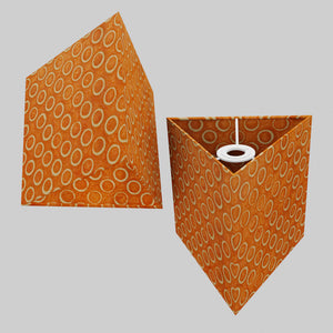 Triangle Lamp Shade - P03 - Batik Orange Circles, 20cm(w) x 20cm(h)