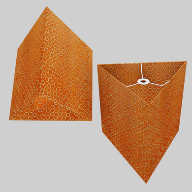 Triangle Lamp Shade - P03 - Batik Orange Circles, 40cm(w) x 40cm(h)