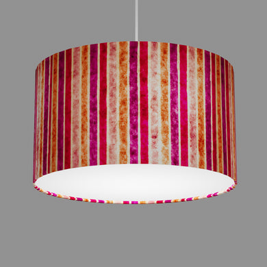 Drum Lamp Shade - P04 - Batik Stripes Pink, 35cm(d) x 20cm(h)