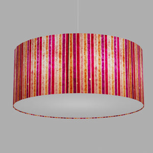 Drum Lamp Shade - P04 - Batik Stripes Pink, 70cm(d) x 30cm(h)