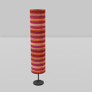 Drum Floor Lamp - P04 - Batik Stripes Pink, 22cm(d) x 114cm(h)