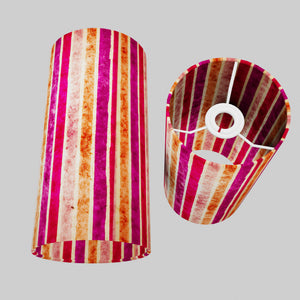 Drum Lamp Shade - P04 - Batik Stripes Pink, 15cm(d) x 30cm(h)