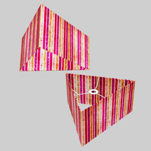 Triangle Lamp Shade - P04 - Batik Stripes Pink, 40cm(w) x 20cm(h)
