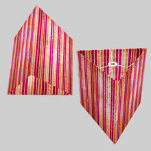 Triangle Lamp Shade - P04 - Batik Stripes Pink, 40cm(w) x 40cm(h)