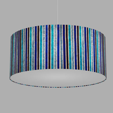 Drum Lamp Shade - P05 - Batik Stripes Blue, 70cm(d) x 30cm(h)