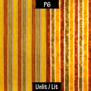 Drum Floor Lamp - P06 - Batik Stripes Autumn, 22cm(d) x 114cm(h) - Imbue Lighting