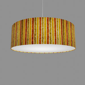 Drum Lamp Shade - P06 - Batik Stripes Autumn, 60cm(d) x 20cm(h)
