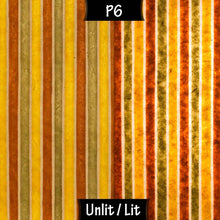 Square Lamp Shade - P06 - Batik Stripes Autumn, 20cm(w) x 20cm(h) x 20cm(d) - Imbue Lighting