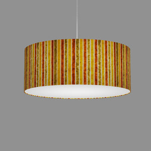Drum Lamp Shade - P06 - Batik Stripes Autumn, 50cm(d) x 20cm(h)