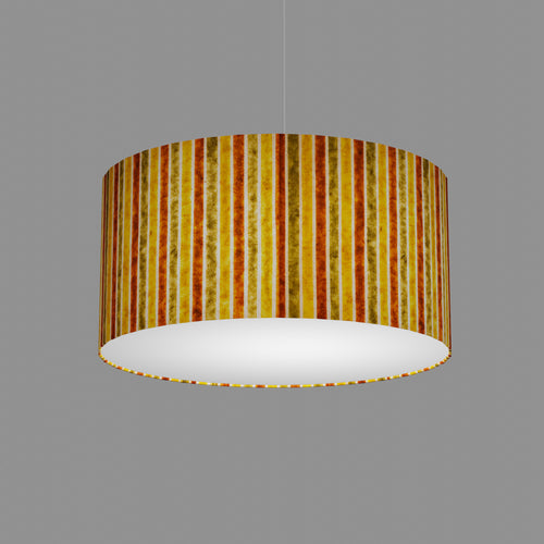 Drum Lamp Shade - P06 - Batik Stripes Autumn, 50cm(d) x 25cm(h)