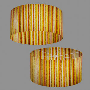Drum Lamp Shade - P06 - Batik Stripes Autumn, 60cm(d) x 30cm(h)
