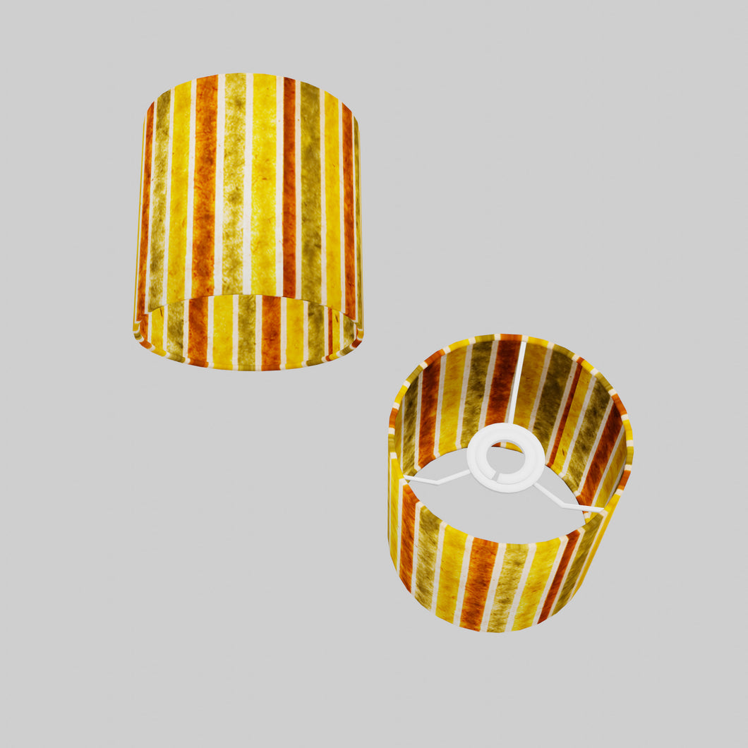 Drum Lamp Shade - P06 - Batik Stripes Autumn, 15cm(d) x 15cm(h)