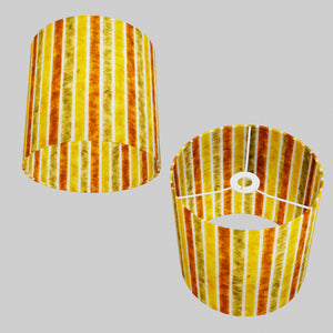 Drum Lamp Shade - P06 - Batik Stripes Autumn, 25cm x 25cm