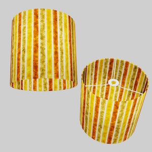 Drum Lamp Shade - P06 - Batik Stripes Autumn, 30cm(d) x 30cm(h)