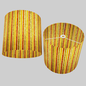 Drum Lamp Shade - P06 - Batik Stripes Autumn, 40cm(d) x 40cm(h)