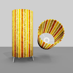 Free Standing Table Lamp Small - P06 ~ Batik Stripes Autumn