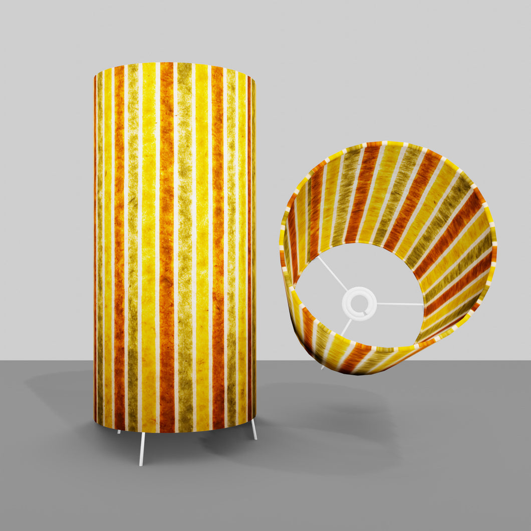 Free Standing Table Lamp Large - P06 ~ Batik Stripes Autumn