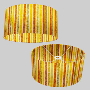 Oval Lamp Shade - P06 - Batik Stripes Autumn, 40cm(w) x 20cm(h) x 30cm(d)