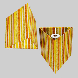 Triangle Lamp Shade - P06 - Batik Stripes Autumn, 20cm(w) x 20cm(h)
