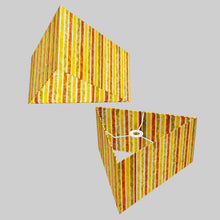 Triangle Lamp Shade - P06 - Batik Stripes Autumn, 40cm(w) x 20cm(h)