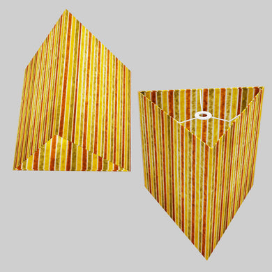 Triangle Lamp Shade - P06 - Batik Stripes Autumn, 40cm(w) x 40cm(h)