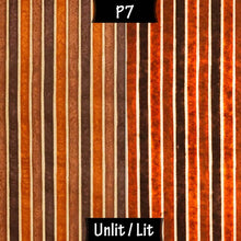 Drum Lamp Shade - P07 - Batik Stripes Brown, 30cm(d) x 20cm(h) - Imbue Lighting