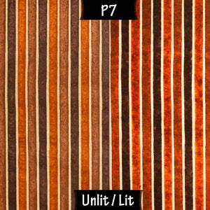 Drum Lamp Shade - P07 - Batik Stripes Brown, 70cm(d) x 30cm(h) - Imbue Lighting