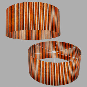 Drum Lamp Shade - P07 - Batik Stripes Brown, 70cm(d) x 30cm(h)