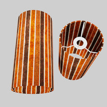 Drum Lamp Shade - P07 - Batik Stripes Brown, 15cm(d) x 30cm(h)
