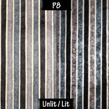 Rectangle Lamp Shade - P08 - Batik Stripes Grey, 30cm(w) x 30cm(h) x 15cm(d) - Imbue Lighting