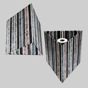 Triangle Lamp Shade - P08 - Batik Stripes Grey, 20cm(w) x 20cm(h)