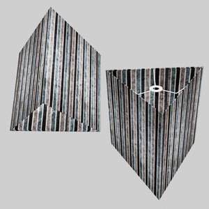Triangle Lamp Shade - P08 - Batik Stripes Grey, 40cm(w) x 40cm(h)