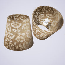 Conical Lamp Shade P09 - Batik Peony on Natural, 23cm(top) x 35cm(bottom) x 31cm(height)