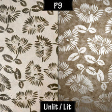 Wall Light - P09 - Batik Peony on Natural, 36cm(wide) x 20cm(h) - Imbue Lighting