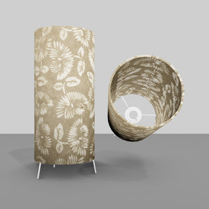 Free Standing Table Lamp Small - P09 ~ Batik Peony on Natural