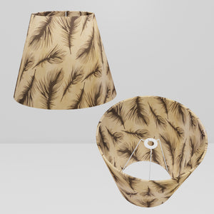 Conical Lamp Shade B102 - Black Feather, 23cm(top) x 40cm(bottom) x 31cm(height)