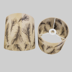 Drum Lamp Shade - B102 - Black Feather, 20cm(d) x 20cm(h)