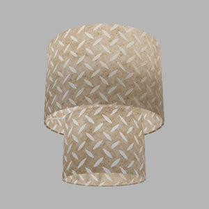 2 Tier Lamp Shade - P10 - Batik Tread Plate Natural, 30cm x 20cm & 20cm x 15cm