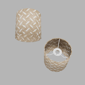 Drum Lamp Shade - P10 - Batik Tread Plate Natural, 15cm(d) x 15cm(h)