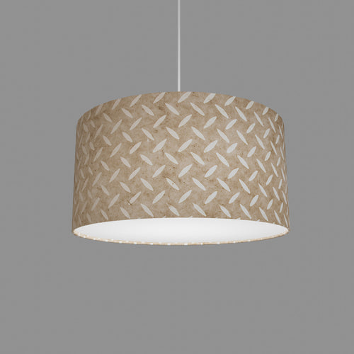 Drum Lamp Shade - P10 - Batik Tread Plate Natural, 40cm(d) x 20cm(h)