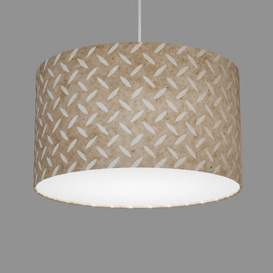 Drum Lamp Shade - P10 - Batik Tread Plate Natural, 35cm(d) x 20cm(h)