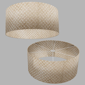 Drum Lamp Shade - P10 - Batik Tread Plate Natural, 70cm(d) x 30cm(h)